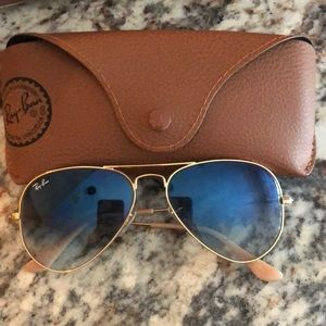 Ray ban Aviator Blue/Gold Gradient